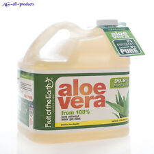 Aloe Vera Juice -99.8% Aloe Fruit Of The Earth 1gal Natural Muscle Joint Support