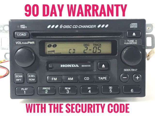 Stereo Squad Radio Compatible with Honda Radio Tape and 6 Disc CD Changer OEM