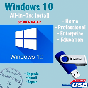 Details about WINDOWS 10 ALL VERSIONS UPGRADE✅64GB USB 32/64bit✅Fix Install  Repair Your PC