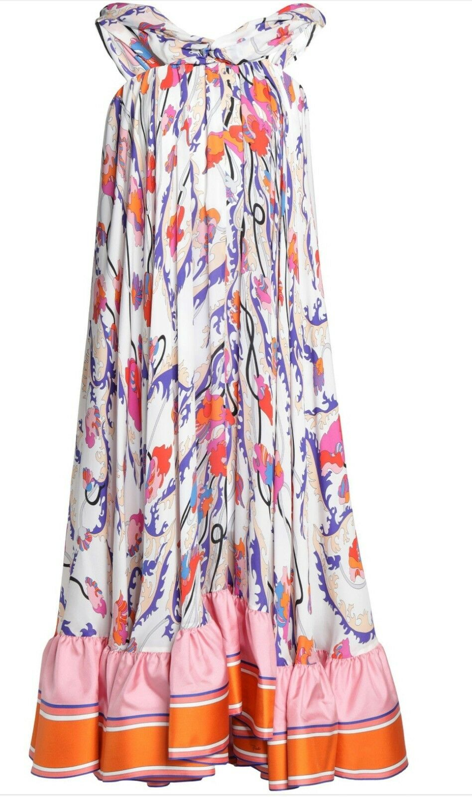 Emilio pucci Asymmetric Print Silk dress