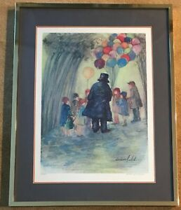 BARBARA-WOOD-Signed-Numbered-Limited-Edition-Lithograph-034-Balloon-Man-034-59-of-450