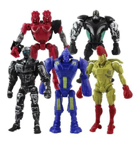 5Pc Real Steel figures figure Twin Cities Midas Zeus Noisy Boy Toy Free Shipping