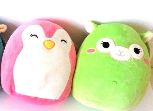 Squishmallow Plush The Alpaca Green and Penguin  2 Soft Pillow 8 SALE