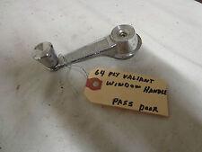 """1964 PLYMOUTH VALIANT """"SIGNET 2OO"""" 2 DOOR COUPE WINDOW HDOOR HANDLE"""