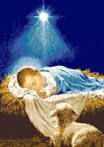 Immagini Gesu Bambino Natale.Dettagli Su Schema Schemi Punto Croce Natale Nativita Gesu Bambino
