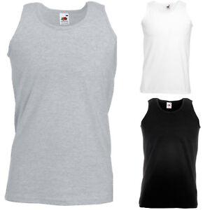 1cac50a6032e1b Fruit of the Loom Sleeveless Athletic Vest Black White Grey 3XL 4XL ...