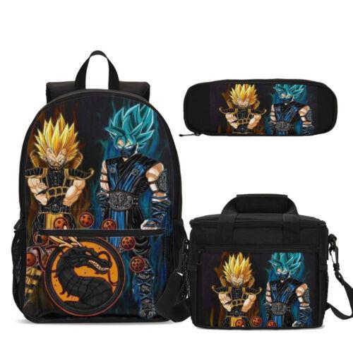 Anime Kids Dragon Ball Imprimé Sac à Dos Déjeuner Sac Bandoulière Sac Stylo Étui Lot Cadeau