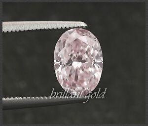 Diamant-mit-GIA-Zertifikat-0-32-ct-seltene-Farbe-rosa-Ovalschliff-unbehandelt