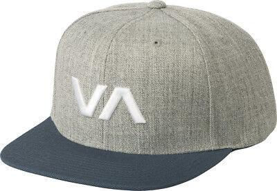 VA Snapback II Mens Hat 6 Panel CHARCOAL Mid Fit Ruca Cap FREE SHIP NEW RVCA