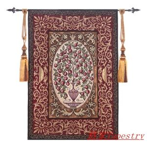 Bottle of fruit Medieval castle aristocrat living portable tapestry