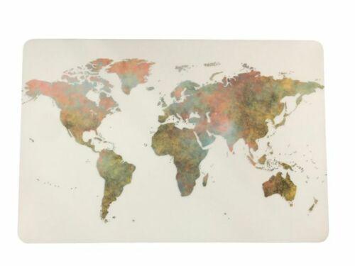 Schreibtischunterlage Kontinente auf weißem Grund Welt Weltkarte Erde 40x60