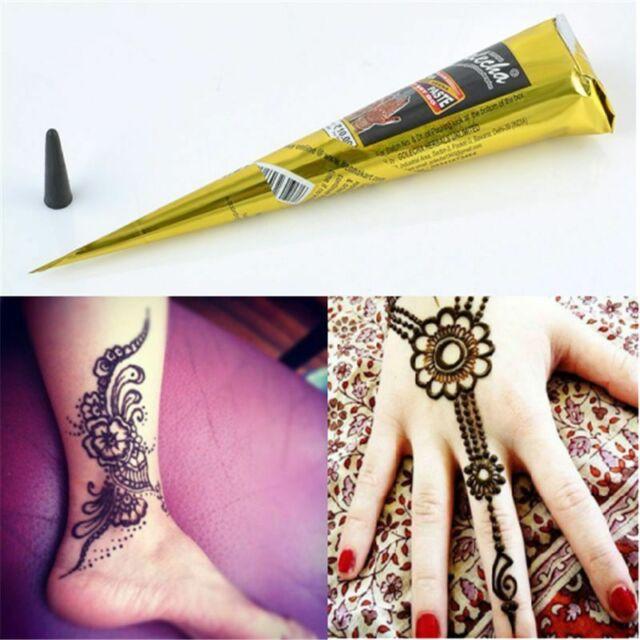 Henna Tattoo Kits For Sale: Natural Herbal Henna Cones Tattoo Kit Temporary Black Body