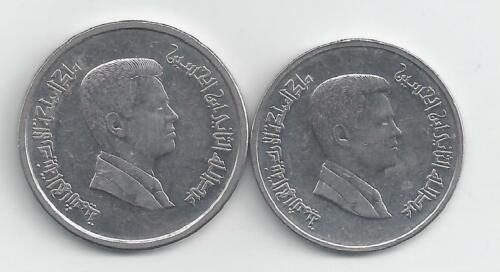 5 /& 10 PIASTRES BOTH DATING 2009 2 DIFFERENT COINS from JORDAN