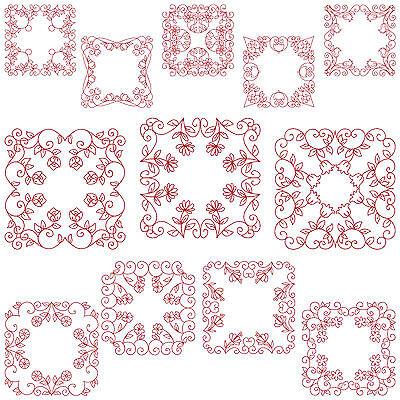 Quiltblocks 2 Machine Embroidery Patterns 12 Designs Sizes
