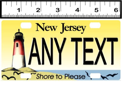 CUSTOM PERSONALIZED BICYCLE STATE LICENSE PLATE-NEW JERSEY SHORE TO PLEASE