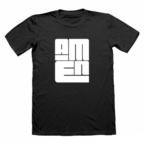 AMEN religious Chrisitan T Shirt for men jesus tshirt gym t-shirt christ running