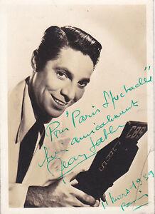 Jean-Sablon-Autographe-Original-Vintage-1939