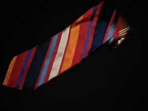 Paul-Fredrick-Tie-Bright-Multi-Color-Colorful-Stripe-Luxury-Woven-Silk-Designer