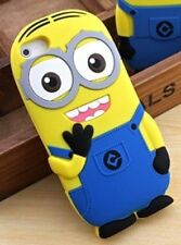 Despicable Me 3D Minion iphone 5/5S Silicone Cartoon Figure Fitted Case/Skin