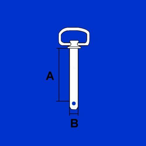 L 157-183mm Bolzen Absteckbolzen Sticken D 19 bis 38mm