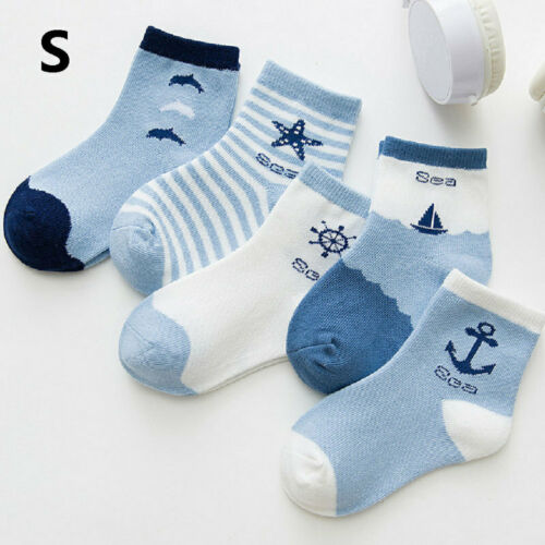 1 Pairs Baby Boy Girl Cotton Socks Newborn Infant Toddler Kids Soft Ankle Socks