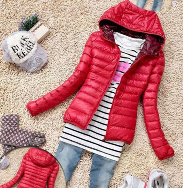 Winter Women's Slim Hooded Coat zipper Trench Jacket Parka Outwear Overcoat S-XL