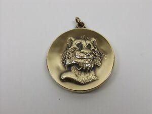 Vintage 1975 Bicentennial EXXON Oil Tiger Mascot Bronze MACO Medal Pendant