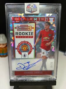 2019-20-Chronicles-Soccer-DANIEL-JAMES-Rookie-Ticket-CRACKED-ICE-AUTO-10-23-RC