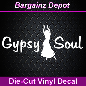 Vinyl Decal. Free Spirit Bohemian Car Van Sticker BLAME IT ON MY GYPSY SOUL.