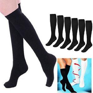 bb6cbdf413d 1 Pair Women Men Anti Fatigue High Knee Compression Socks Stocking ...