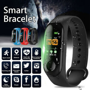 Blood-Pressure-Heart-Rate-Monitor-Bracelet-Smart-Watch-Wristband-For-Android-iOS