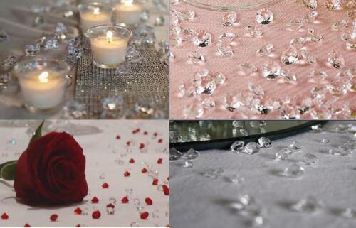4000pc Clear Diamond Table Confetti Wedding Bridal Shower Decor 4 Carat 10mm