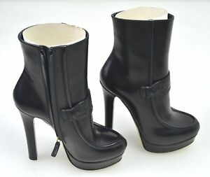 1f4bb4d0610 Image is loading GUCCI-WOMAN-WINTER-ANKLE-BOOTS-BOOTIES-LEATHER-CODE-