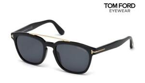 d769a4d87b Image is loading TOM-FORD-Sunglasses-Holt-TF516-01A-Black-Smoke-