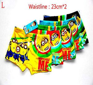18536ce1629c9b Boys Briefs Boxer Hipster Underwear Cotton Pants Disney MINIONS ,5,6 ...