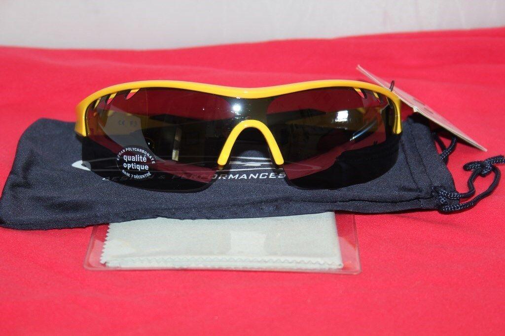 AZR Lunettes Velo Huez RX Cat 3 - yellow (etui souple)