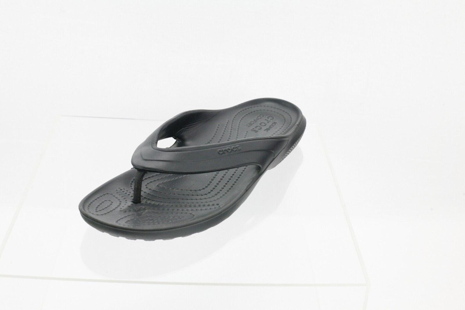 Crocs Classic Flip Flop Sandal 202635-001 Men's Black Men's 202635-001 Shoes Size 11 M 3f0efe