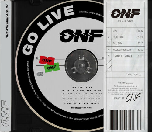 4th Mini Album CD+Photobook+PHOTOCARD+QR CARD+Poster GO LIVE ONF