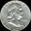 "A 1959 D Franklin Half Dollar 90/% SILVER US Mint /""Average Circulation/"""