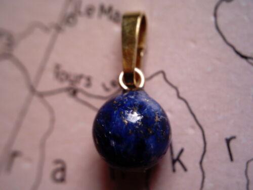 Anhänger Gold 585 mit Lapis Kugel 8 mm Lapis Lazuli Kettenanhänger Gold 585