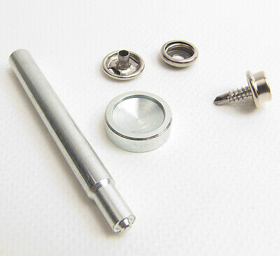 "Stainless Steel w// 3//8/"" Inch #8 Wood Screw Stud Snap Cap /& Socket"