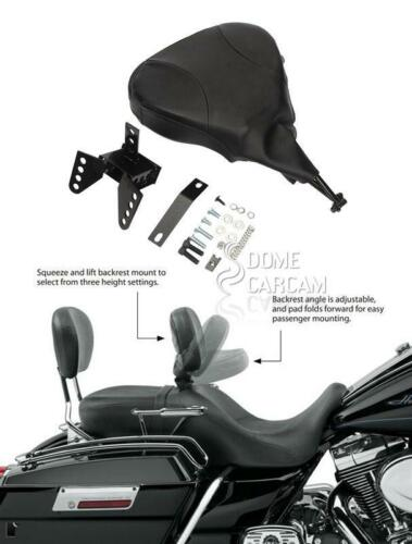 Adjustable Driver Rider Backrest For Harley 1988-2008 Touring Electra Glide Dyna
