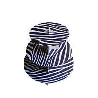 24pk 12 Zebra 3 Tier Cardboard Cupcake Holder Stand Black Print Baby Shower