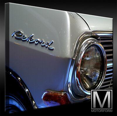 Automobilia Opel Rekord A Echte Leinwand Bild Canvas Art Kunstdruck Leinwandbild Lounge Poster & Bilder
