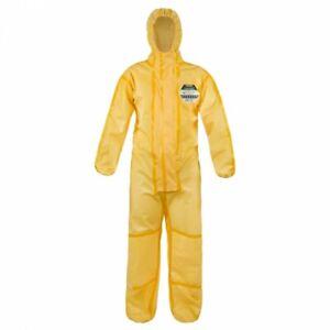 Lakeland-ChemMax-1-Yellow-Chemical-Coverall-Overall-Hood-Type-3-4-Bio-Hazard