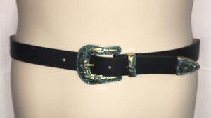 Express-Belt-Womens-Small-Medium-Black-Turquoise-NWT-39-90