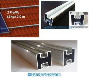 Intelligent 2x Solar Aluprofil Je 2.00 M 40x40 Mm Befestigung Für Pv Dachhaken Stockschraube Heimwerker