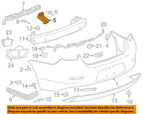 Chevrolet GM OEM 13-16 Malibu Rear Bumper-Lower Bracket Left 22926511