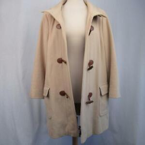 Gerry-Weber-Beige-Cream-Winter-Coat-Wool-Cashmere-Duffel-Fastening-Zip-Size-18
