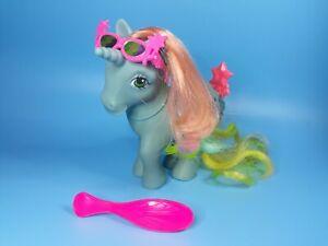 Vtg-G1-My-Little-Pony-Starflower-Rainbow-Unicorn-Good-Star-Symbols-Comb-Brush
